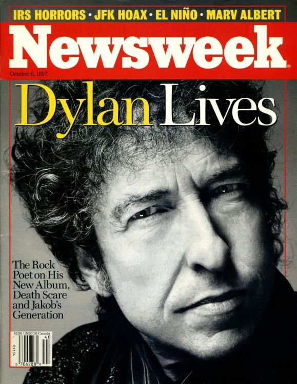 newsweek 1997 magazine Bob Dylan cover story