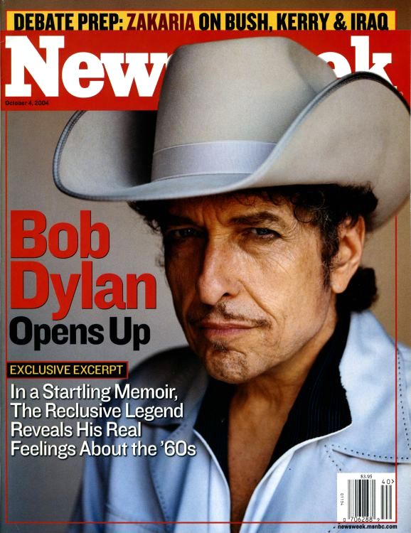 newsweek 2004 magazine Bob Dylan cover story