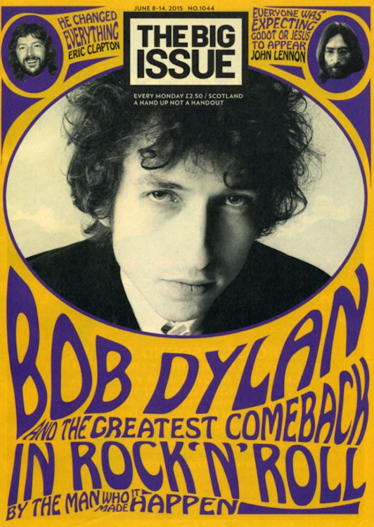 the big issue 2015 scottish magazine Bob Dylan cover story