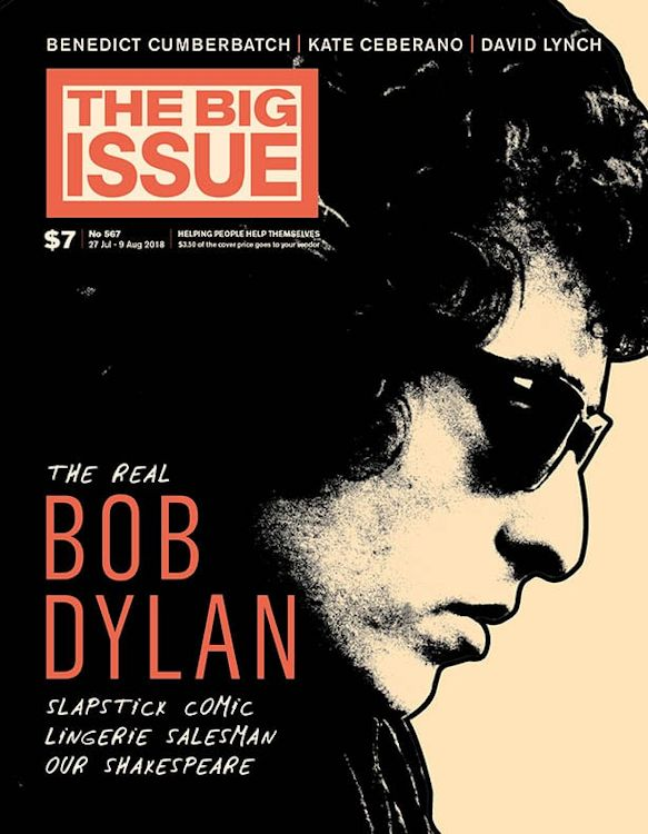 the big issue 2018 australia magazine Bob Dylan cover story