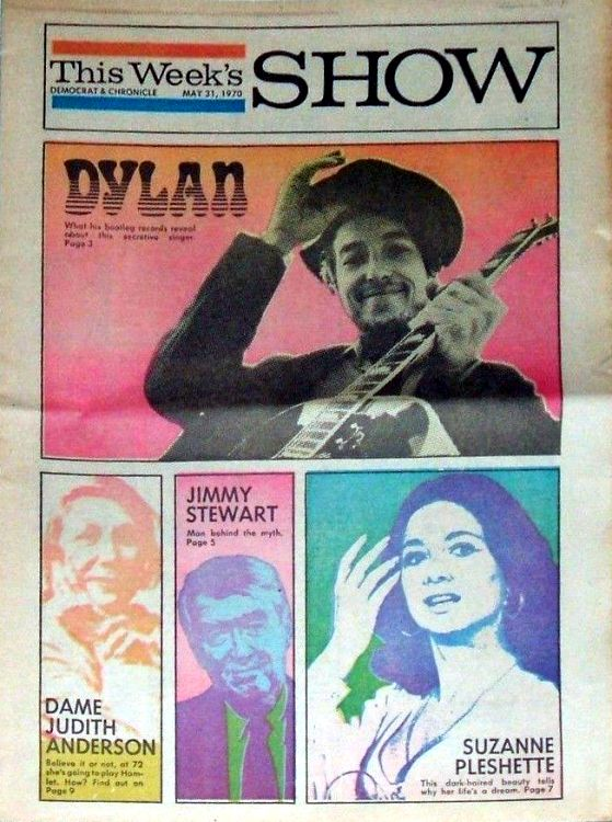 this week's show 1970 Bob Dylan cover story