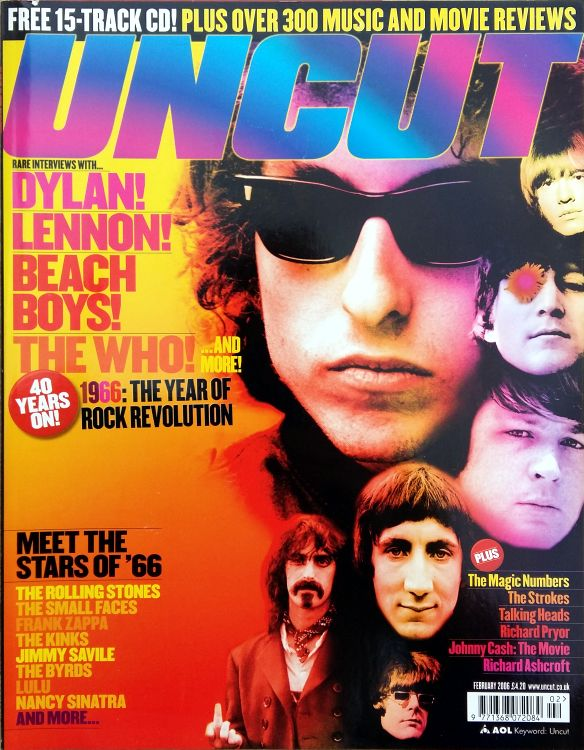 uncut magazine February 2006 Bob Dylan cover story