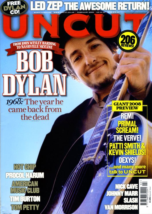 uncut magazine February 2008 Bob Dylan cover story