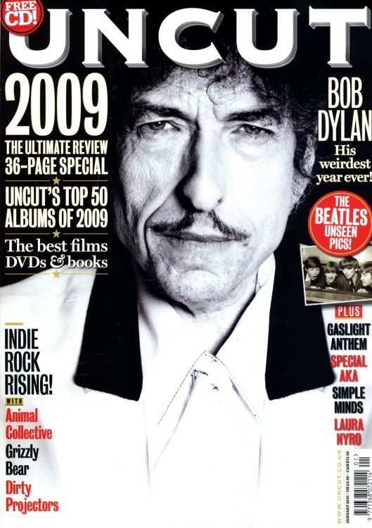 uncut January 2010 magazine Bob Dylan cover story