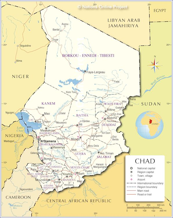 map of tchad