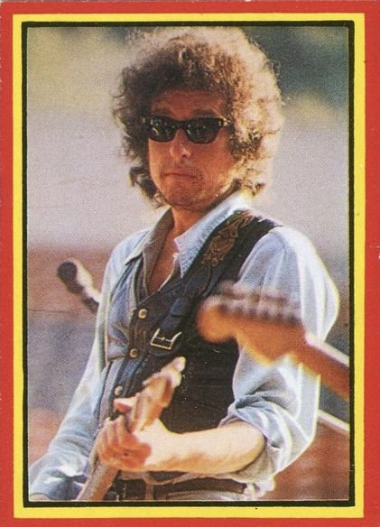 bob dylan spain 1978 trading card