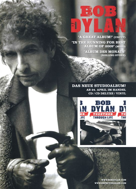 bob dylan together through life germany flyer