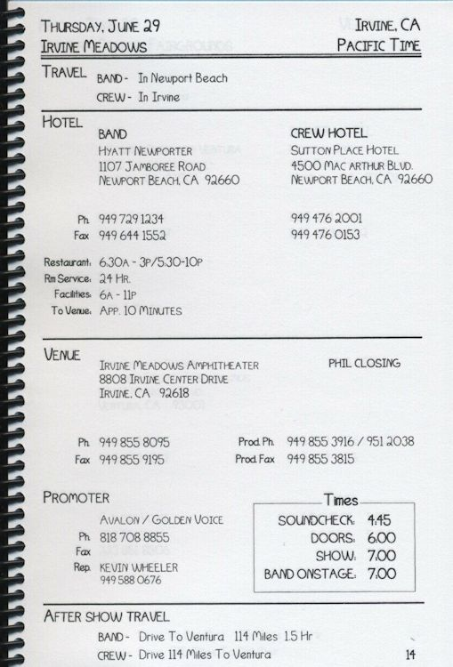 tour itineraries summer 2000 bob dylan page 2