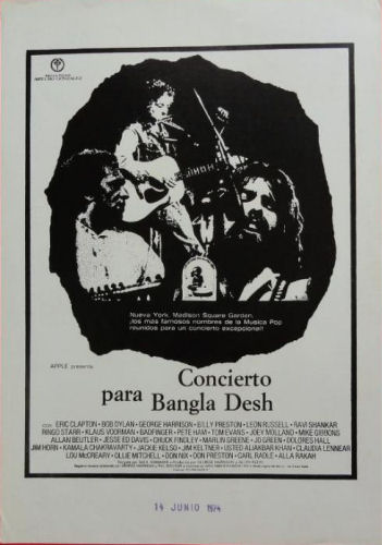 bob dylan the concert for bangladesh film spain
