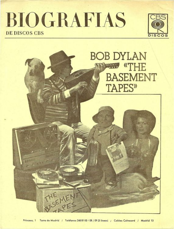 basement tapes promo