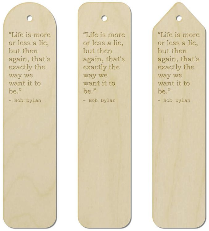 bob dylan quote 1 bookmark