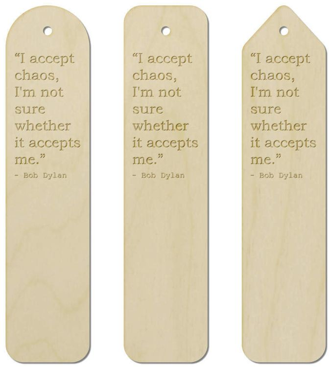 bob dylan quote 2 bookmark