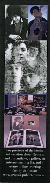 bob dylan bookmark Genesis Publications for 'Bob Dylan In Woodstock'