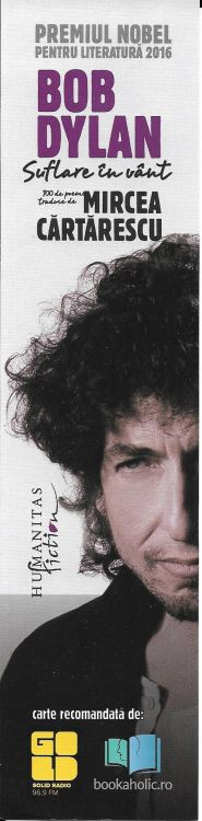 bob dylan bookmark Humanitas fiction for Suflare in V�nt