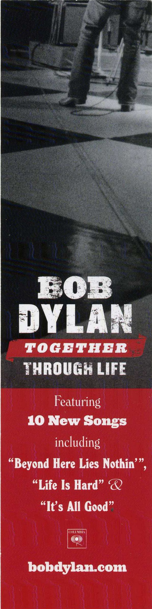 bob dylan bookmark together through life