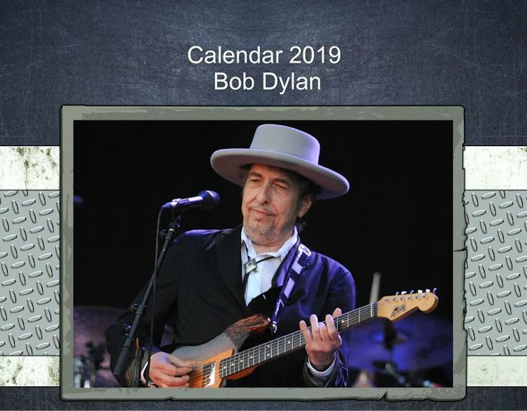 bob dylan 2019 calendars created by Ale Bigio