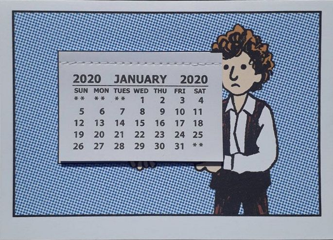 bob dylan 2020 calendar dont look back