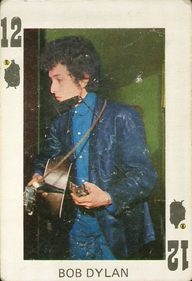 bob dylan 1960s spain trading card