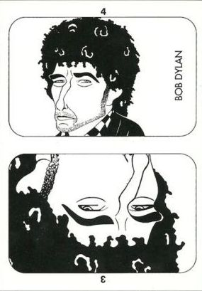 bob dylan playing card drawing
