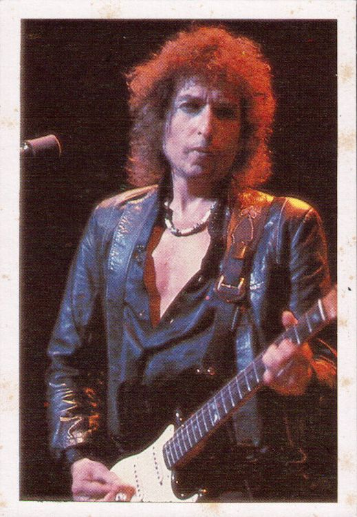 bob dylan spain 1980s trading card