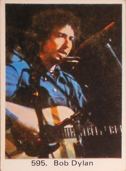 bob dylan dutch swedish trading card
