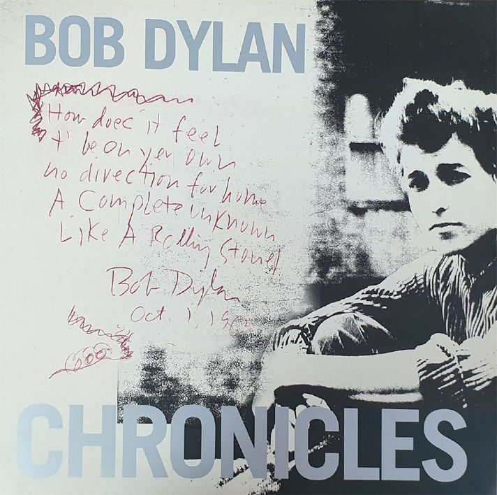detail of bob dylan CHRONICLES VOLUME ONE PAPERBACK PUBLICITY PACK