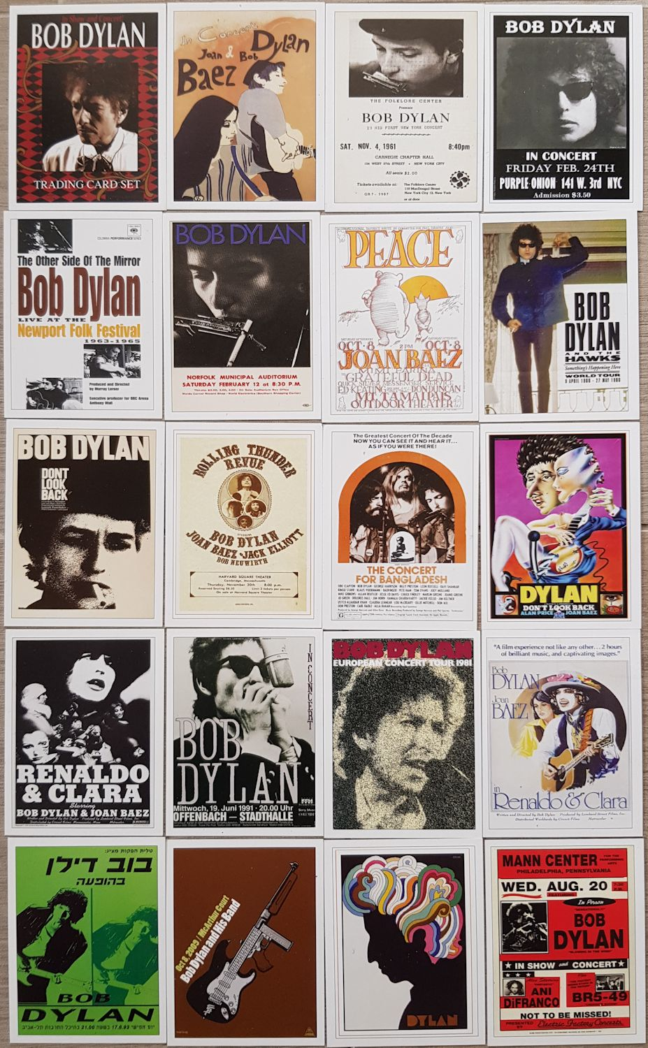 bob dylan trading cards puzzle