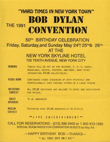 bob dylan convention hard times in new york town