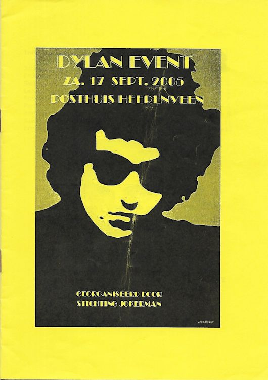 Dylan Event programme 2005, holland