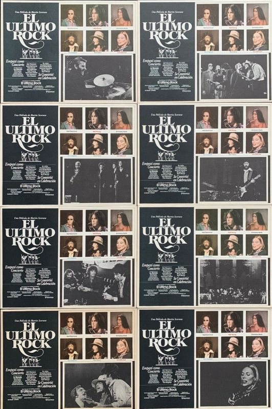 bob dylan the band the last waltz film lobby cards mexico