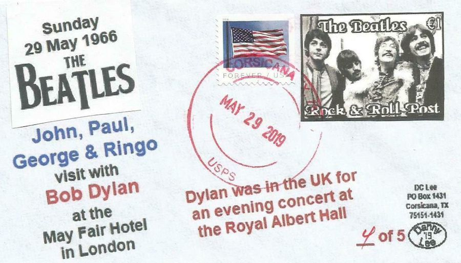 beatles bob dylan 29 may 1966 stamp
