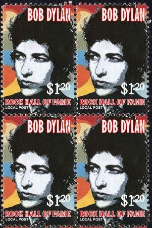 bob dylan hall of fame 1 stamp