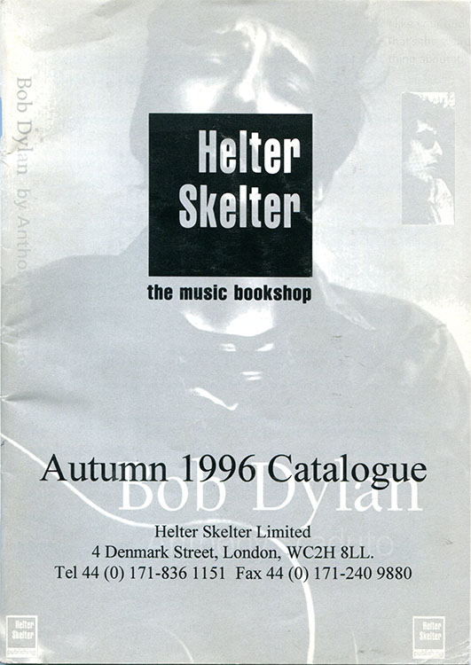 bob dylan helter skelter sales catalogue 1996