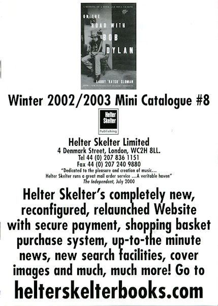 bob dylan helter skelter sales catalogue 2000