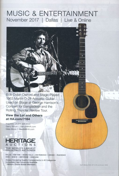 Heritage Auction 2017 Bob Dylan