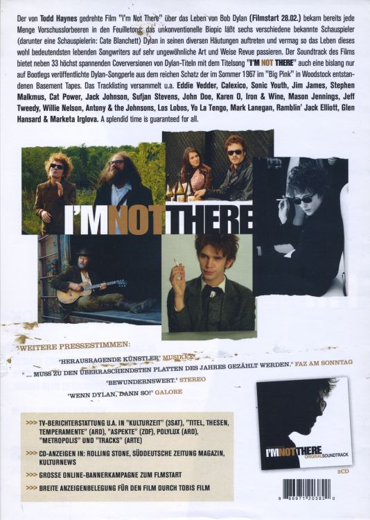 bob dylan i'm not there film german flyer back
