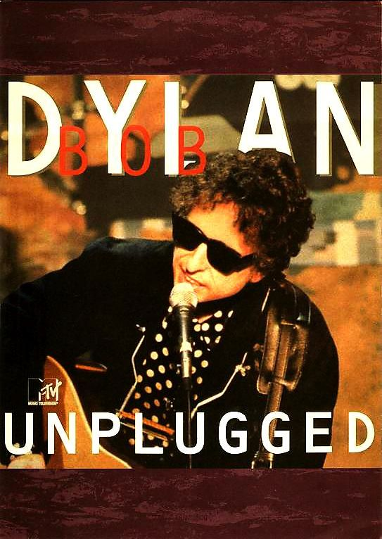 bob dylan unplugged japan promo flyer