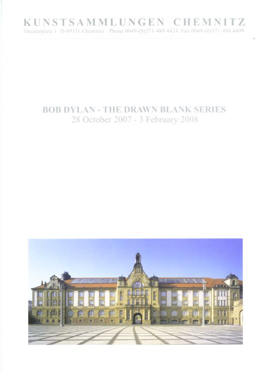 bob dylan the drawn blank series chemnitz museum english flyer