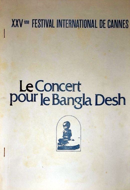 bob dylan the concert for bangladesh film French pressbook