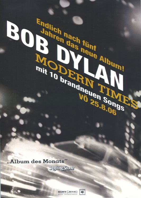 bob dylan modern times germany flyer