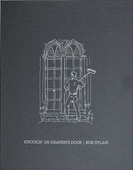 bob dylan mondo scripto knocking on heaven's door portfolio