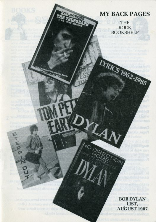 bob dylan My Back Pages catalogue 1987