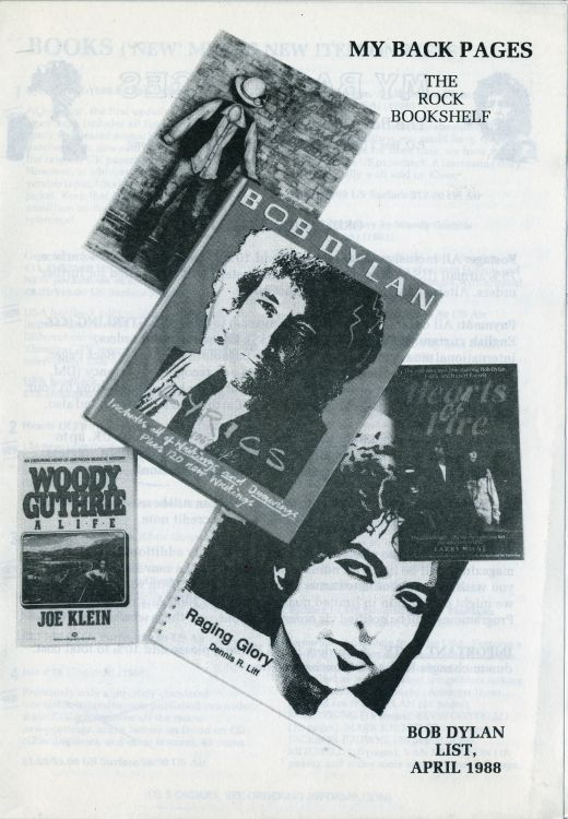 bob dylan My Back Pages catalogue 04 1988