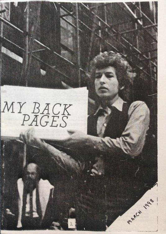 bob dylan My Back Pages catalogue 03 1998