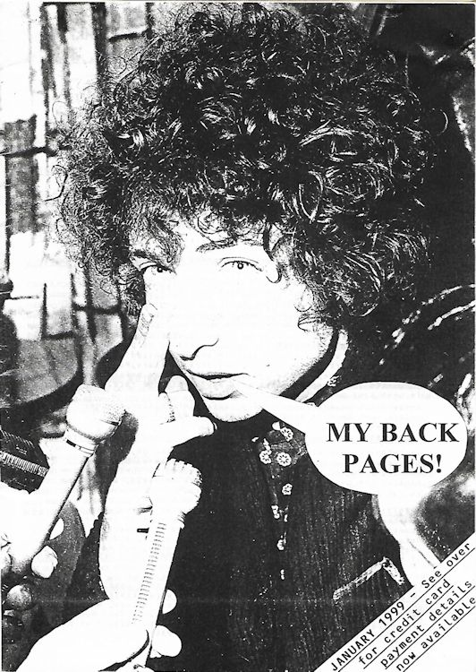 bob dylan My Back Pages catalogue 01 1999