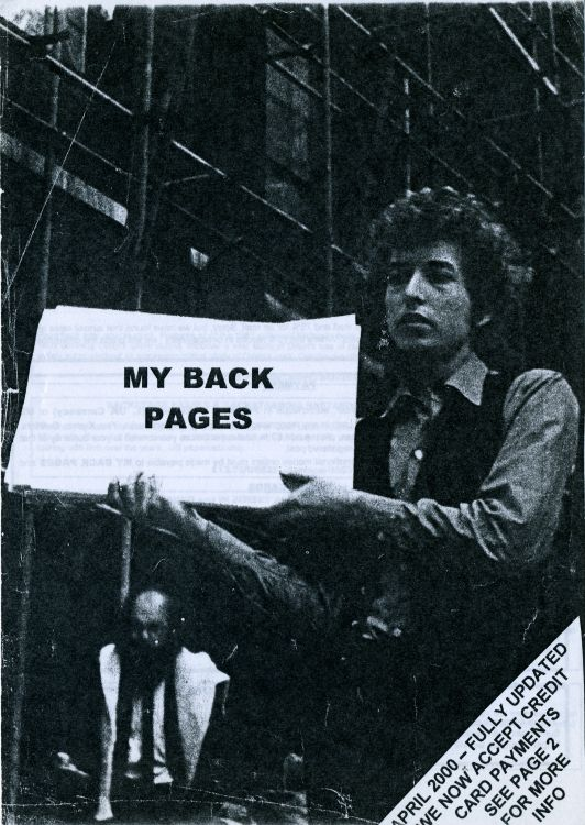 bob dylan My Back Pages catalogue 2000