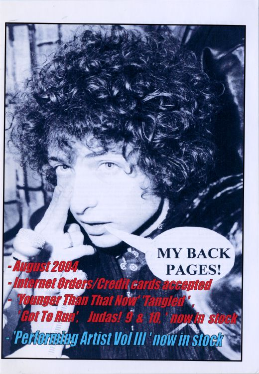 bob dylan My Back Pages catalogue august 2004