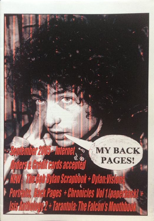 bob dylan My Back Pages catalogue sept 2005