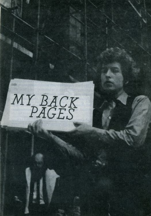 bob dylan My Back Pages catalogue no date