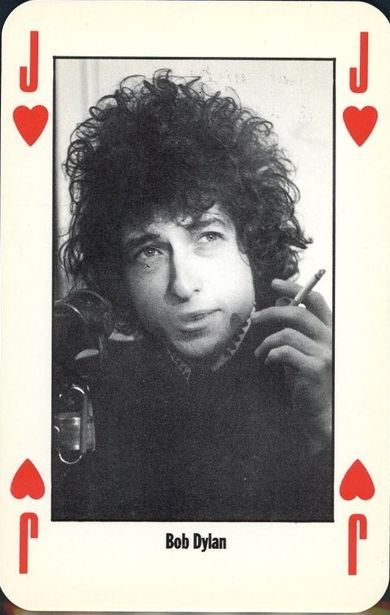bob dylan NME poker playing cards